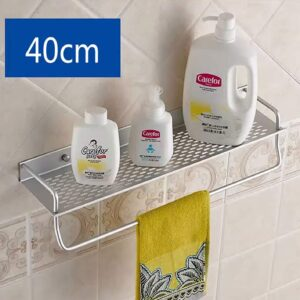 Single Layer Storage Rack With Towel Rail